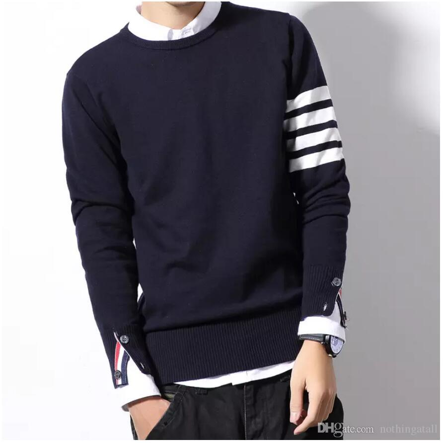 Christmas Sweaters For Men.2019 Autumn Winter Christmas Sweater Men Pullover Fashion Mens Jumper Plus Size Mens Sweaters Crewneck M 6xl Grey Black From Nothingatall 45 18