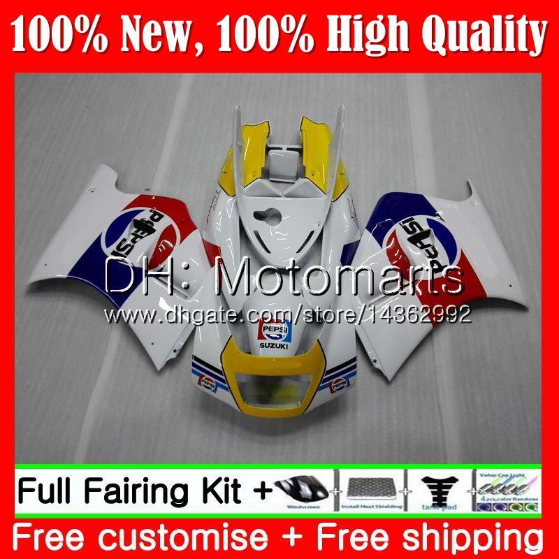 Cuerpo para SUZUKI RGV250 VJ21 88-89 Azul blanco RGV250 88 89 Carenado 35MT6 RGV-250 VJ 21 Carrocería RGV 250 1988 1989 Fairing Bodywork Red kit