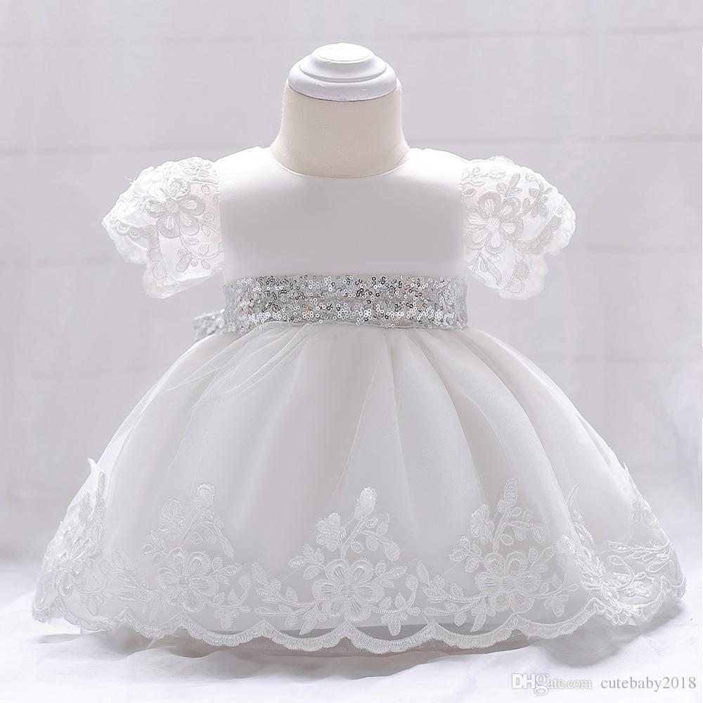 bébé robes fille halloween costumes d'un an Robe pailletée ceinture Cute Girls Party dentelle Robes premier anniversaire infantile Tout-petits Vestidos