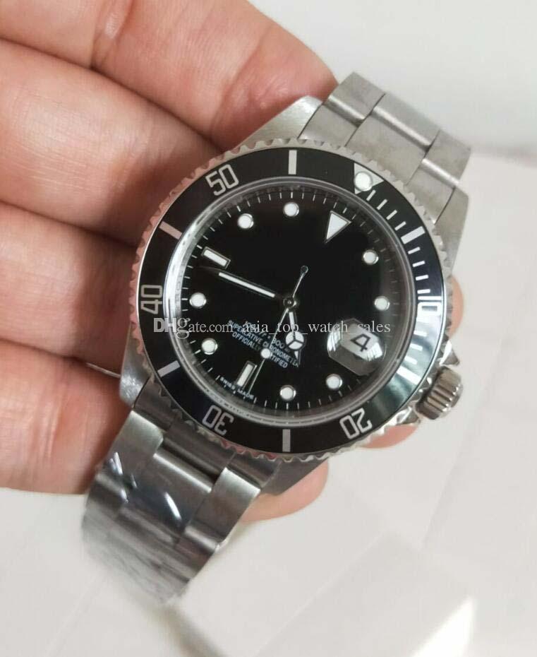 Fábrica de BP última versión 116610 Relojes de lujo de la vendimia 40 mm esfera negra Asia 2813 Movimiento de relojes automáticos para hombre