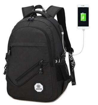 Оливковый мешок, мужской случайный школьный горячий USB рюкзак открытый путешествия мешок компьютера