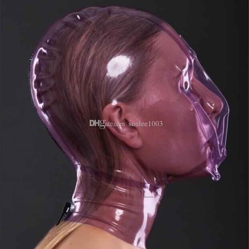 Control Transparent Hood Breath Latex Made Nature Hole Zipped High With 2020 Quality Sexy Back Of Mask From 38 25 Sunlee1003 Handmade