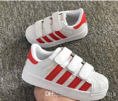 Nuovo marchio Shell Head boy ragazze Sneakers Superstar bambini Scarpe per bambini nuovi stan scarpe moda smith sneakers in pelle scarpe casual