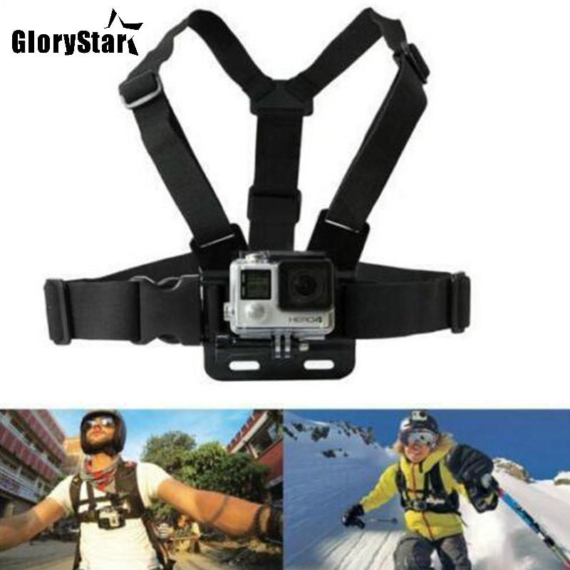 Chest Strap mount belt ل Gopro hero 7 6 5 Xiaomi yi 4K Action camera Chest Mount Harness for Go Pro SJCAM SJ4000 sport cam fix