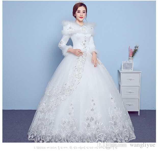 Wedding Dress 2017 Autumn Winter Long Sleeved Princess Winter Bride ...