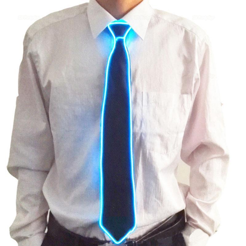 Liderados dança traje Leds Luminous gravata piscando Partido Moda masculina e feminina Dancing Stage Glowing Light Up Toy Brilho Evento