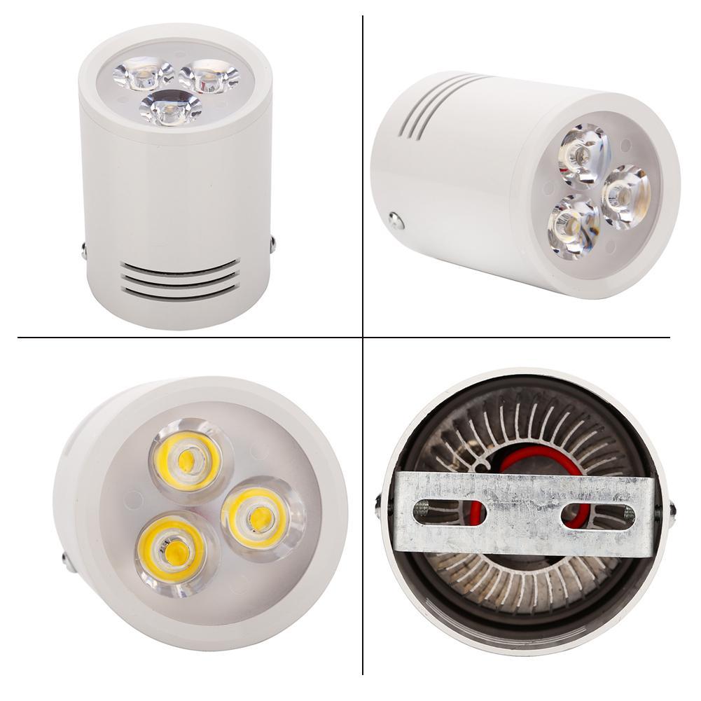 1 pcs LED Downlights 3 W 5 W 7 W 12 W Superfície Redonda Montada Lâmpadas do Teto Spot Light Branco Preto AC85-265V Natureza pura Branco quente