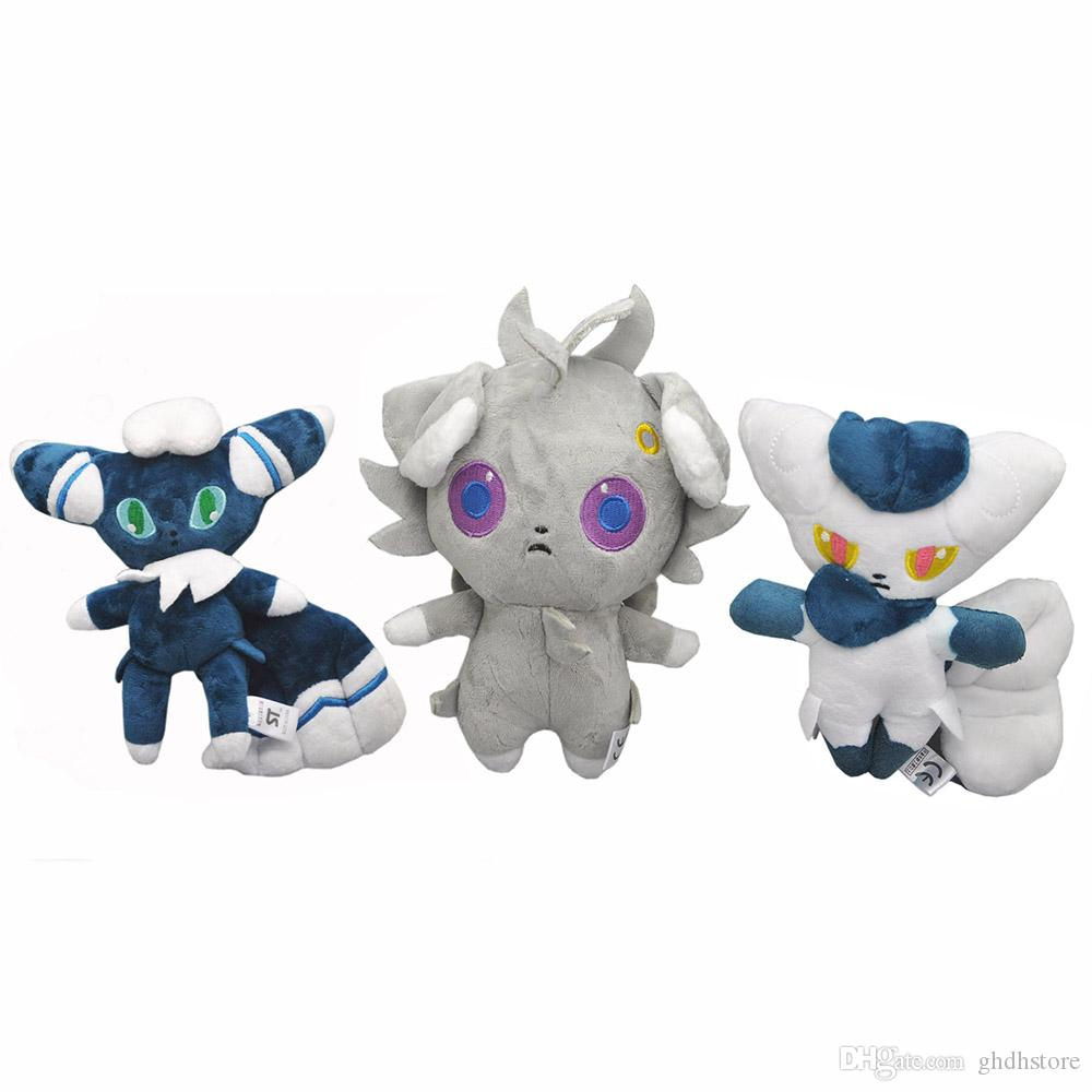 """Hot New 3 Styles 6""""-8"""" 15CM-20CM Male & Female Meowstic Espurr Nyasupaa Plush Doll Anime Collectible Dolls Gifts Stuffed Soft Toys"""