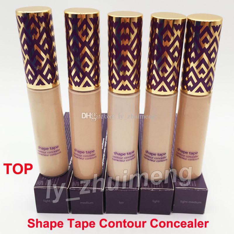 High quality Shape Tape contour Concealer foundation 5 colors medium Fair Light Medium Light sand concealers 10ml liquid foundation Cream
