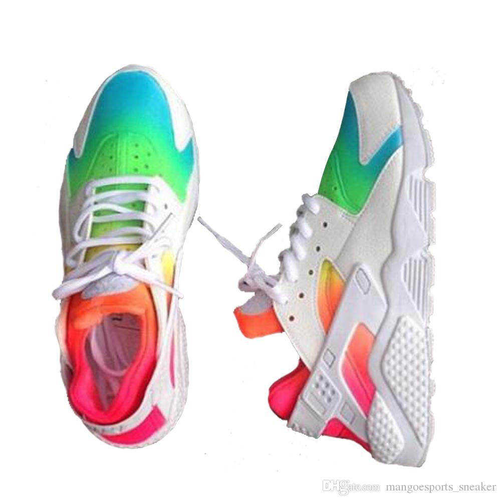 a838803104dc2 2018 NEW Cassical air Huarache Ultra Running Desinger Shoes For Men Women  White Red Hurache Mens Trainers Hurache Sports Sneakers Size 36-45