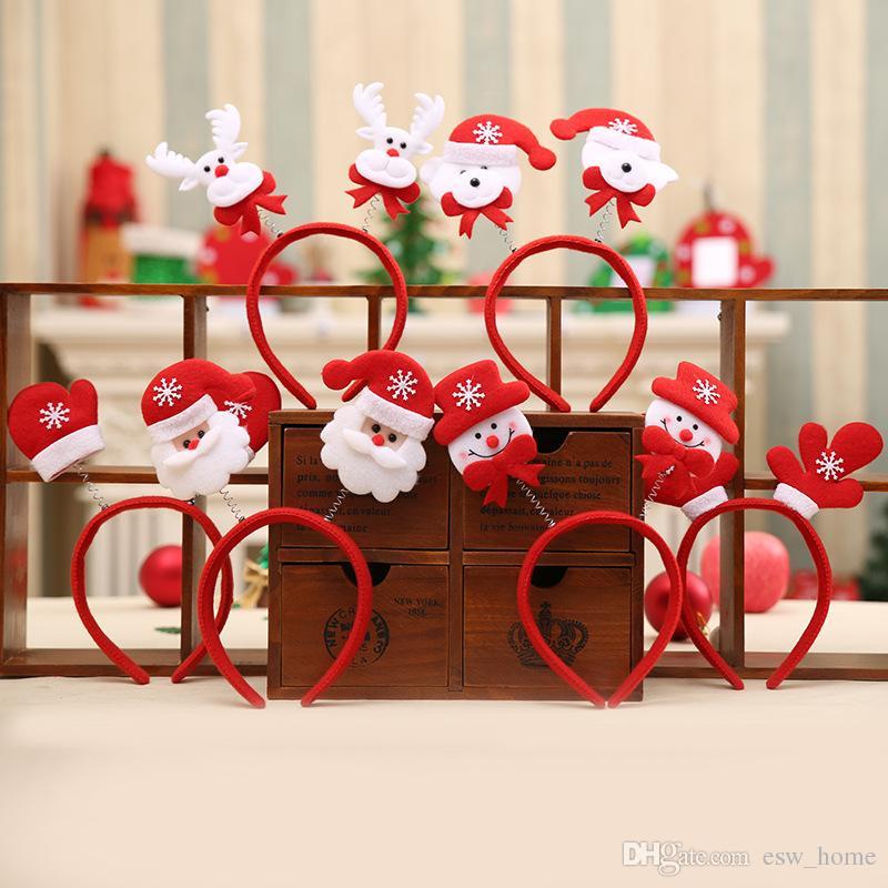 Puntelli di decorazione di Natale Fascia di Natale 2018 nuovi ornamenti di Natale pupazzo di neve per bambini fascia all'ingrosso consegna stile misto