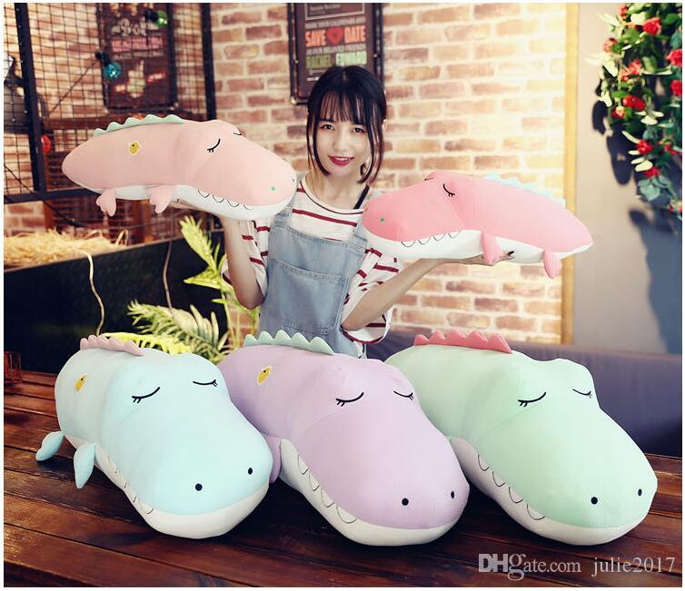 New Style Software Crocodile Plush Toy Eiderdown Cotton Stuffed Doll Plush Pillow Creative Gifts For Children