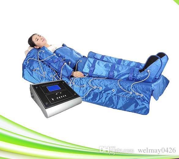 3 in 1 massaggiatore della gamba di compressione di aria di infrared lontano massager di linfa di disintossicazione che dimagrisce il sistema di terapia di compressione di aria del massager del piedino