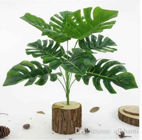 1PC Monstera Office Home искусственное растение высокое моделирование поддельные листья