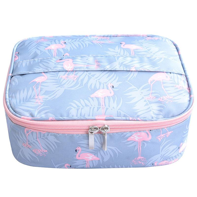Flamingo Wodoodporna Damska Torba Makeup Kosmetyczna Torba Case Podróży Makijaż Torba Toaletowa Organizator Magazyn Set Set Box Professional