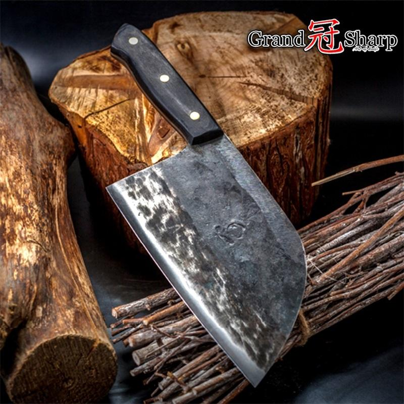 7 Inch Handmade Forged Chef Knife Clad Steel Forged Chinese Cleaver  Professional Kitchen Chef Knives Kitchen Knives Sale Kitchen Knives Set  From ...