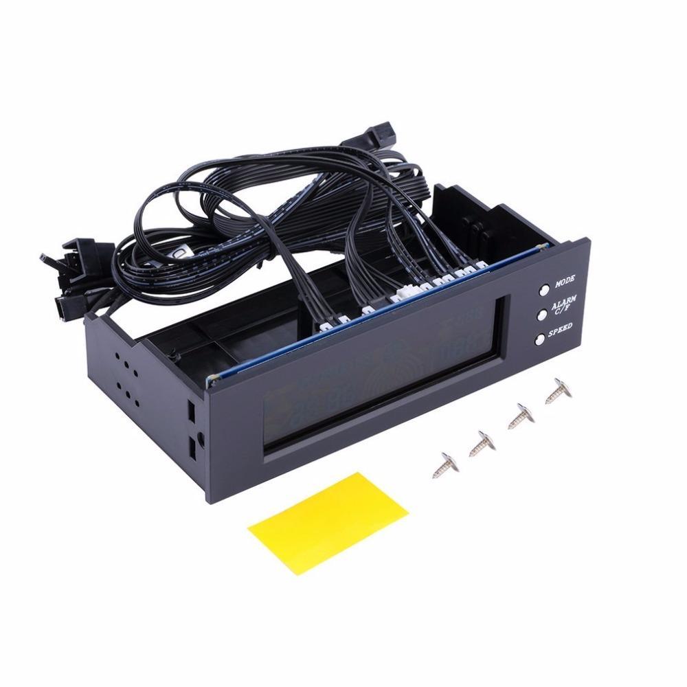 Дисплей температуры регулятора скорости вентилятора панели ЖК-дисплея Freeshipping LCD 5,25-дюймовый контроллер скорости вентилятора ПК Прочный контроллер вентилятора с воздушным охлаждением