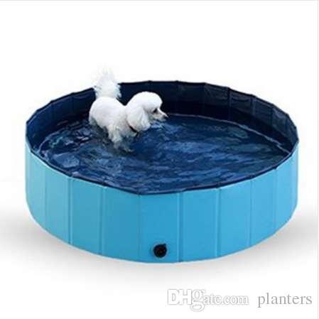 30 * 10 cm Taşınabilir Yavru Pet Banyo Soğutma PVC Katlanır Yüzme Havuzu Yavru Köpek Kedi Duş Kürek Havuzu Küvet Köpek Oyuncak Malzemeleri