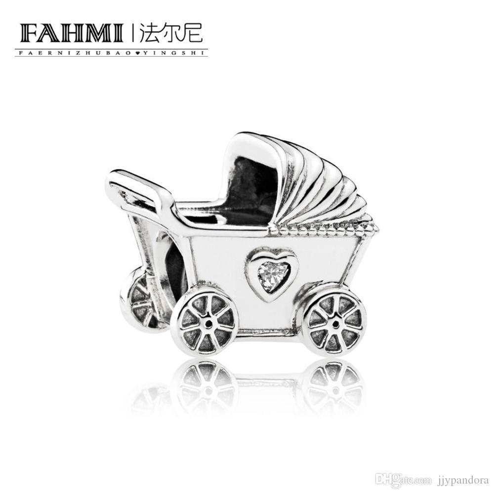 Fahmi 100% 925 Sterling Silver 1: 1 Oryginalny 792102CZ Autentyczne Temperament Fashion Glamour Retro Bead Wedding Women Jewelry