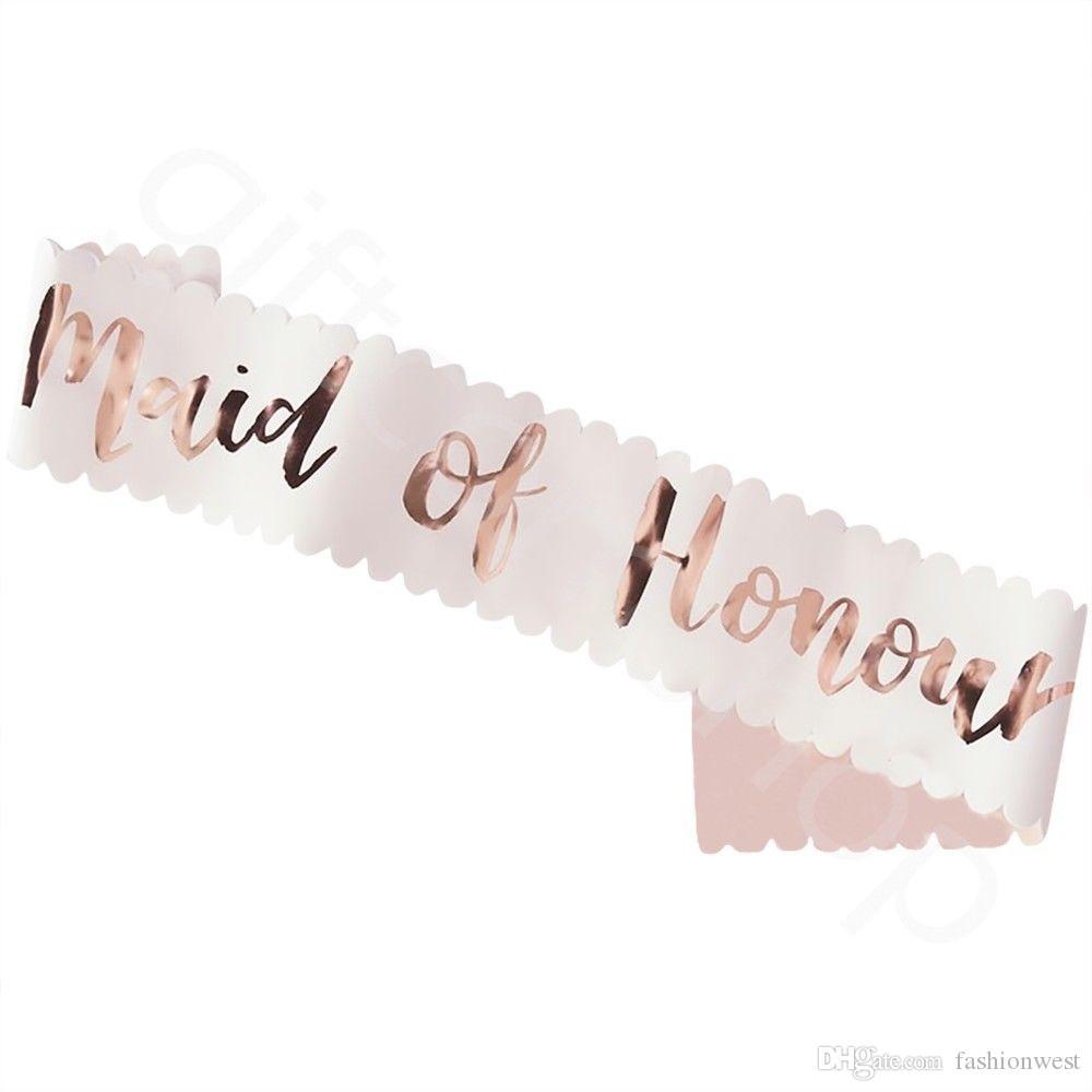 Hen Party Sashes équipe Mariée Chic Floral Or Rose Nuit ne accessoires ceinture
