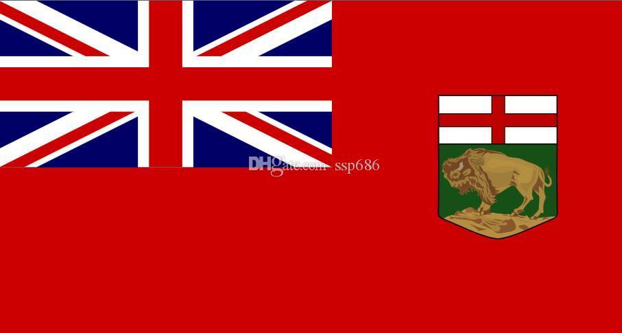 Flaga Kanady Manitoba 3FT X 5FT poliester banner latający 150 * 90 cm niestandardowa flaga na zewnątrz
