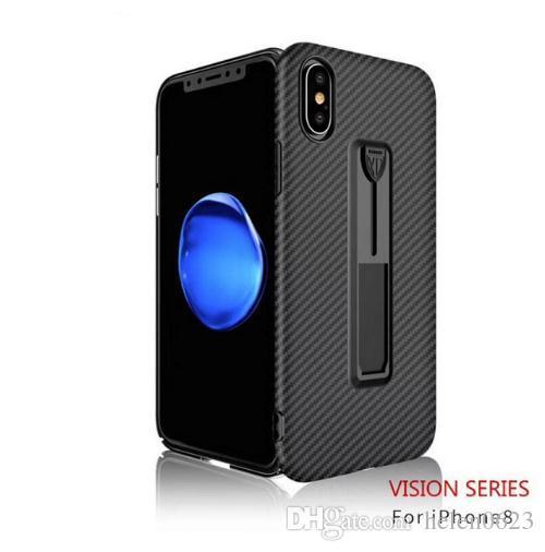 Support Fonction Cas de Couverture Pour iPhone 6S 6 7 8 X Doux Matte TPU Coque Sacoche de Téléphone Pour iPhone 6 5 5S Invisible Kickstand Fundas