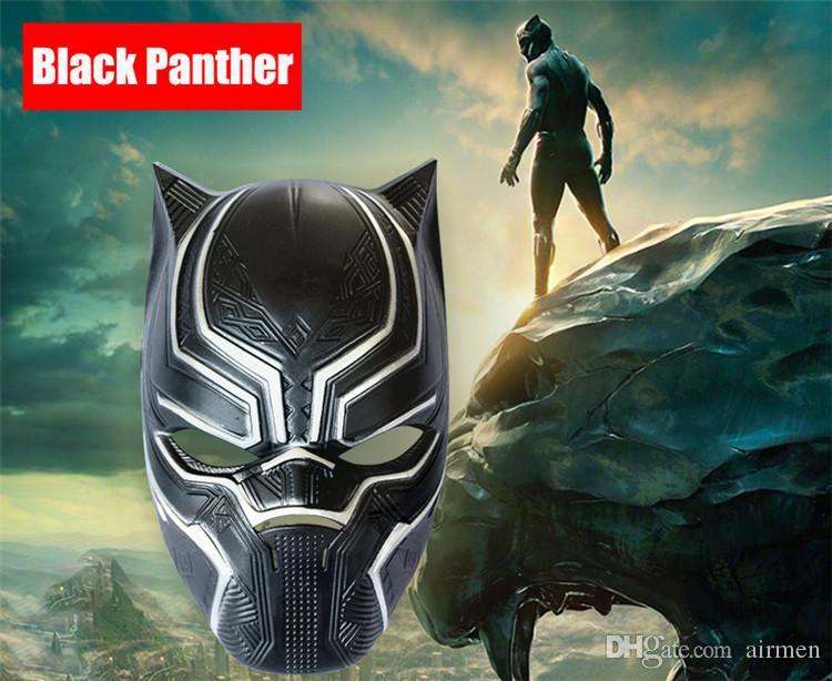 Black Panther Masks America Captain 3 Civil War Movie Fantastic Masquerade Helmet Mask Halloween Horror Cosplay Party Masks Decor