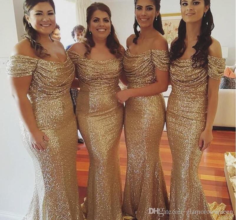 Champagne Gold Sequins Bridesmaid