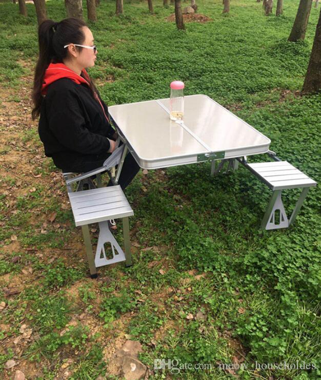 Tavolo E Sedie Da Campeggio.Acquista Tavolo Da Picnic 4 Persone Tavolo E Sedia Da Campeggio