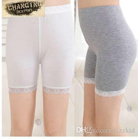 110-150 cm Kleine Mädchen Sicherheitshose Elastische Atmungsaktive Spitze-Shorts für Kinder und Baumwollleggings Mädchenhose