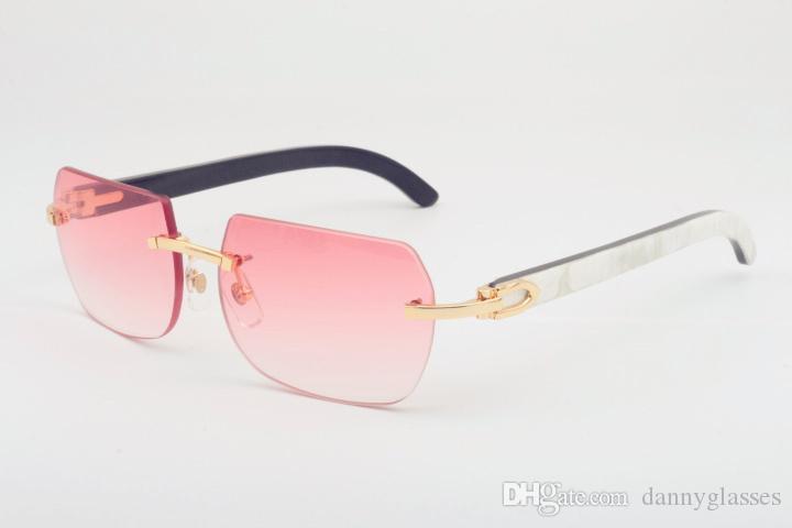 Preto 56-18-140mm de novos óculos de sol de chifre misto natural, óculos de sol personalizados de moda, óculos de sol diretos 8100906, tamanho de vendas: SJIC