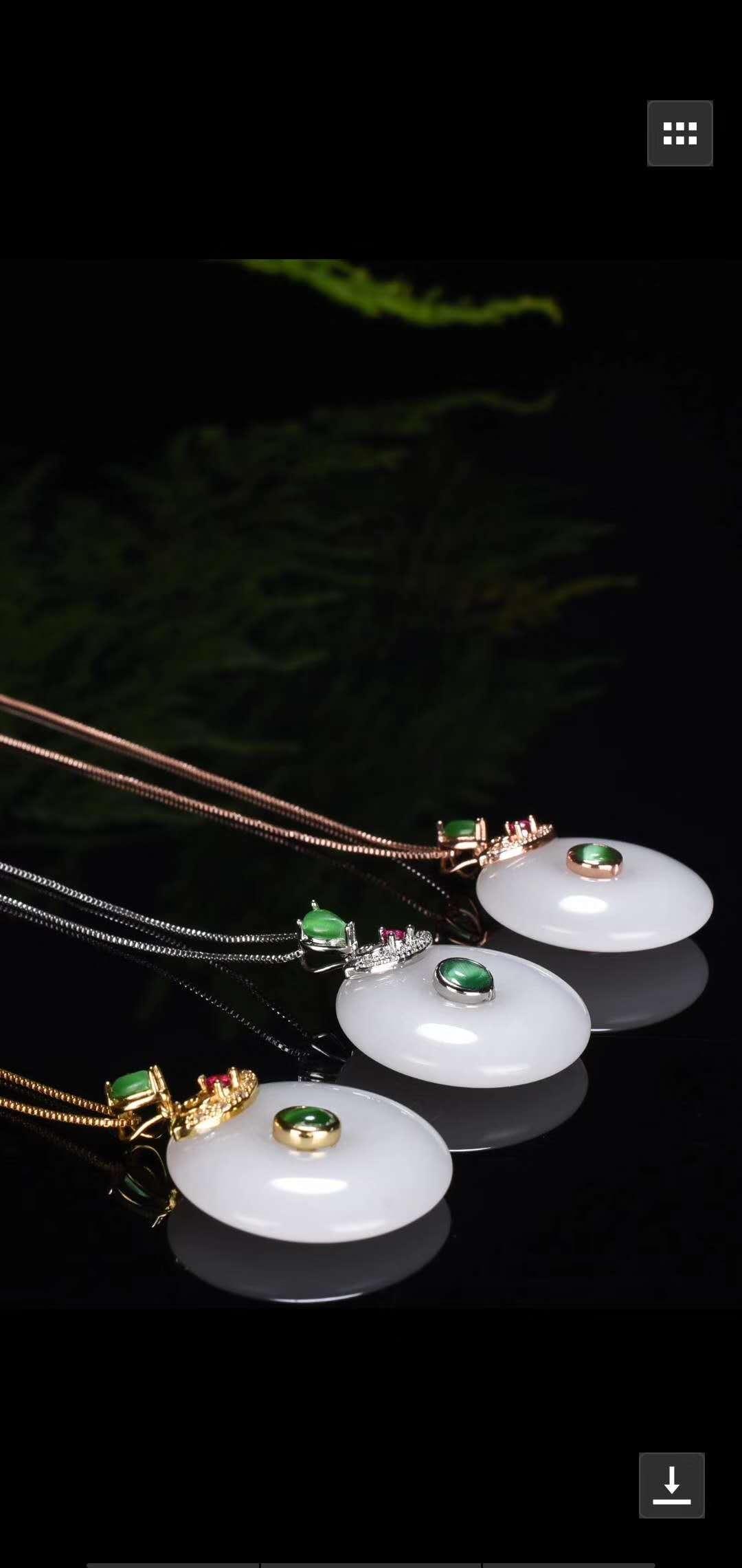 Baiyuhetianyu colgante femenino Kjinxiangyu pacífico collar jade piedra colgante jade colgante niños