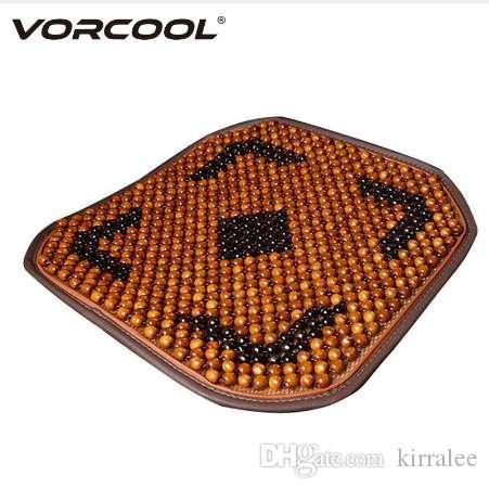 Vorcool madera con cuentas de madera cubierta transpirable asiento asiento antideslizante asiento asiento tela de asiento cojín para camión de automóviles