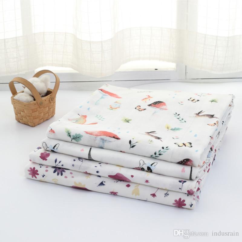 70٪ الخيزران القطن طفل الشاش قماط البطانيات نوعية أفضل من عدن أنيس الطفل متعدد الاستخدامات بطانية القطن