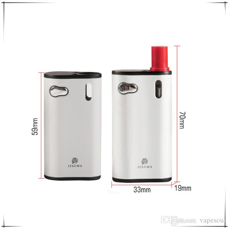 Mod Fit Itsuwa Mini Kit 2N1 Vape voltaje variable 510 cartuchos Micro puerto de carga USB 0,5 ml Libertad V1 / V9 vaporizador pluma cartuchos