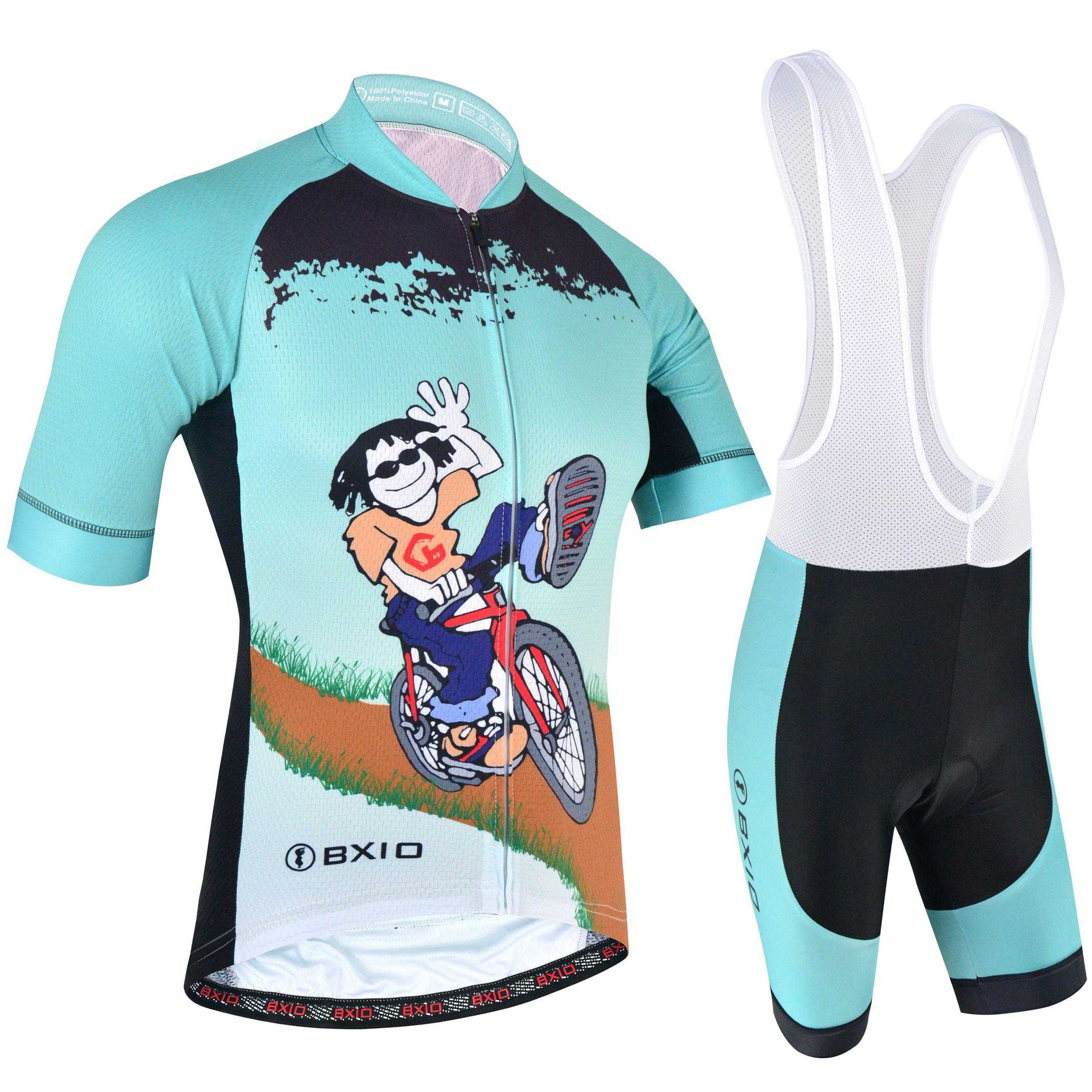 2018 ماركة bxio أحدث نمط الدراجات الفانيلة الصيف السراويل كم دراجة الملابس بارد الرجال الأخضر دراجة جيرسي روبا ciclismo BX-168