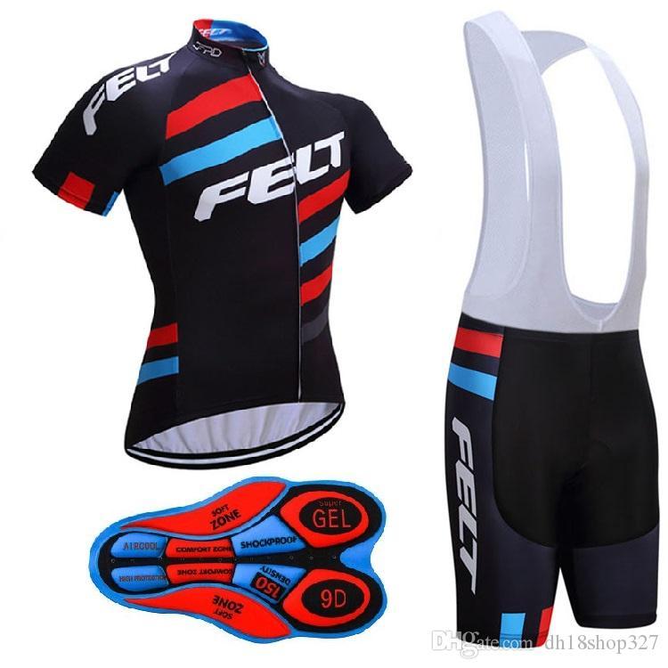 2017 FELT 사이클링 유니폼 짧은 소매 세트 Maillot Ropa Ciclismo 통기성 자전거 자전거 Sportwear 중국