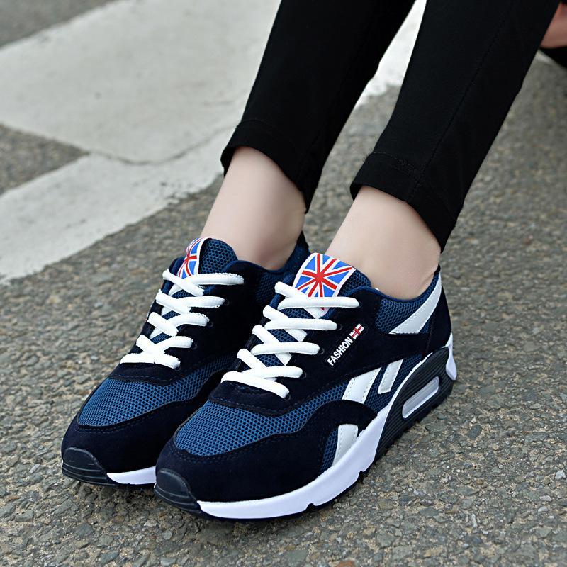 2018 moda mujer zapatos vulcanizados zapatillas de deporte de verano con cordones zapatos casuales transpirable zapatos de lona para caminar mujeres planas