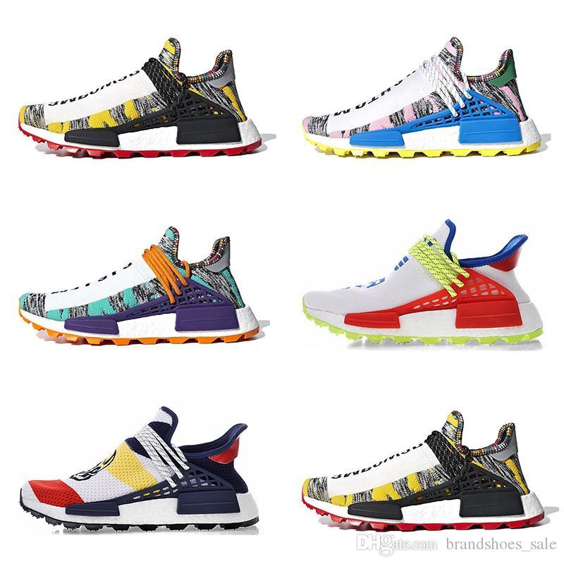 Nouvelle arrivée de race humaine Afro Hu Trial Pack solaire pharrell williams hommes chaussures de course femmes formateurs mode sport sneaker taille 5-11 en vente