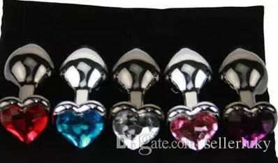 Kalp Bankası Düğme Metal Butt Plug Anal Plug Seks Ürünleri Yetişkin Seks Oyunu için Erotik Büyük Erkekler Eşcinsel Seks Ürün 85 * 32mm