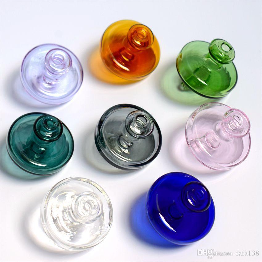 35 мм ОД универсальный цветное стекло НЛО карбюратор колпачок купол для кварца banger ногтей стекло, dab нефтяных вышек стекло бонг