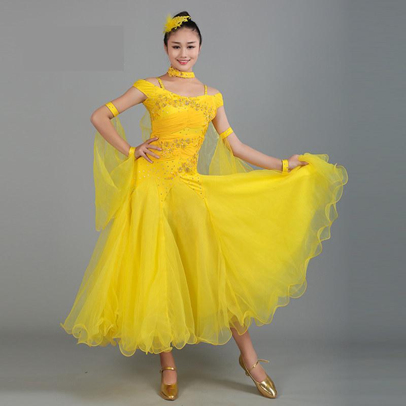 2017 ازياء المرأة قاعة الرقص فساتين المنافسة بيغيني الحديثة التانغو رقصة فالس نمط قياسي جديد قاعة اللباس