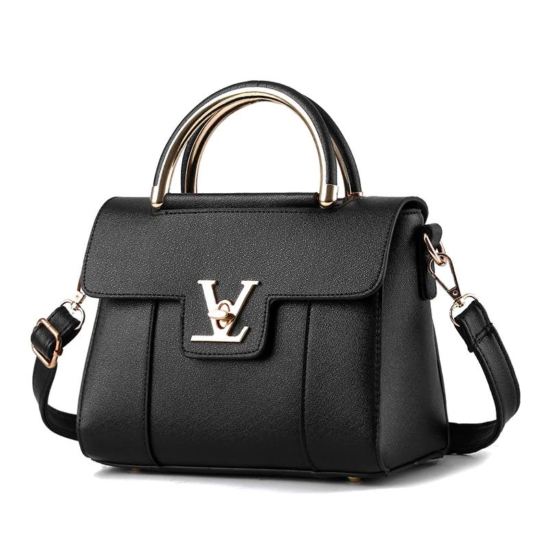 Hot Fake Designer Bags V Women's Brand Leather Clutch Bag Ladies Handbags Brand Women Messenger Bags Sac A Main Femme Handle