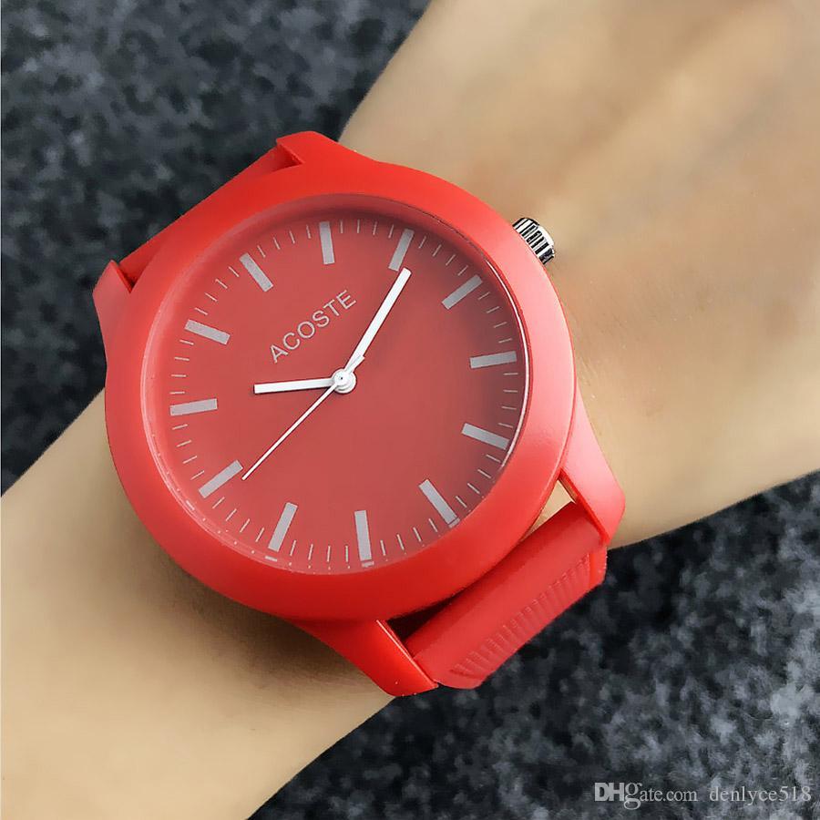 Crocodile Marca de pulso de quartzo relógios para mulheres homens unisex com estilo animal Dial pulseira de silicone relógio relógio LA06