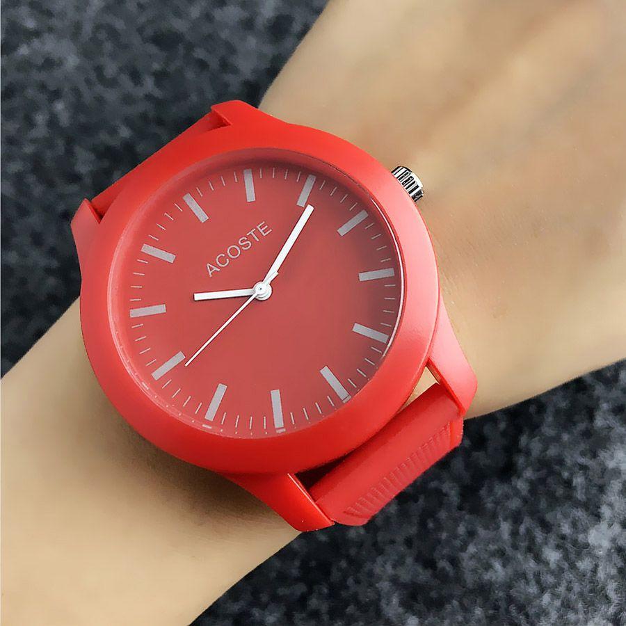 악어 브랜드 석영 손목 실리콘 스트랩 시계 시계 LA06 다이얼 동물 스타일을 가진 여성 남성 유니섹스 시계