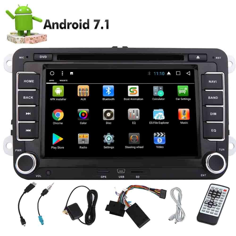 Android 7.1 EinCar Octa Core 32GB RAM 2GB ROM Double Din Car Stereo Autoradio Car DVD Player GPS Navigation for Jetta Bluetooth