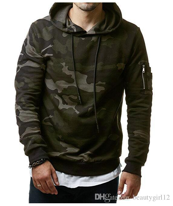 2018 New Mens Camouflage ands Sweatshirts Hooded Sweatshirts Male Clothing Fashion Military Hoody For Men Printed