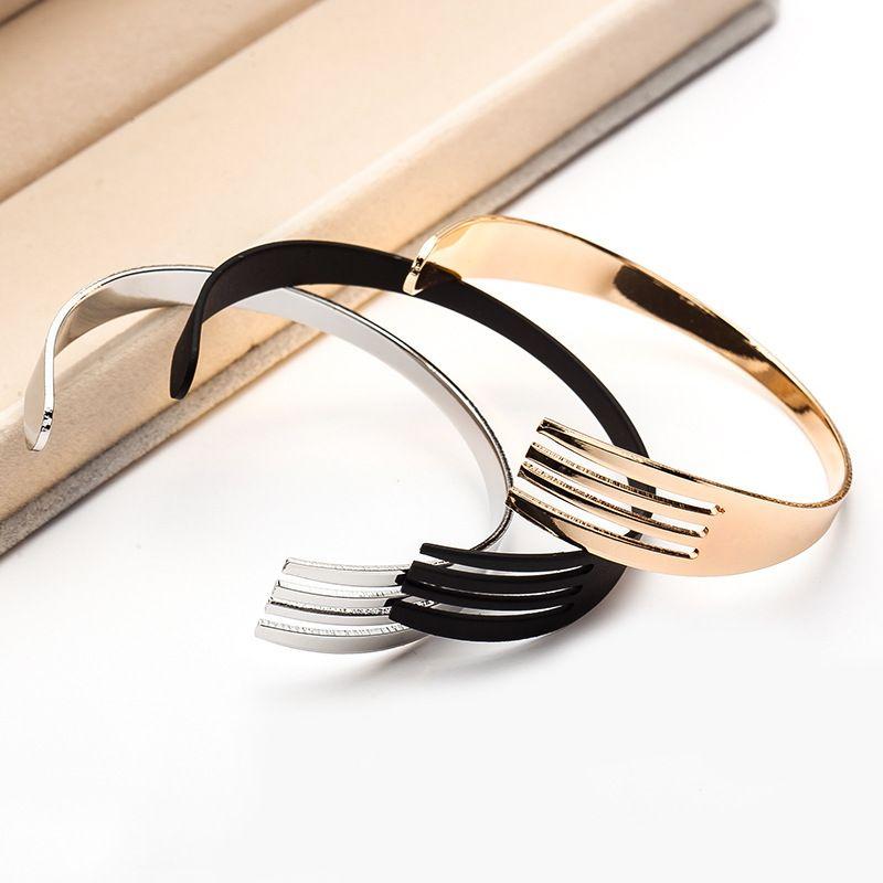 Einfache Persönlichkeit westlichen Besteck Armband, Mode kreative Gabel Armband, koreanische kreative Schmuck Großhandel, Gold, Silber, schwarz