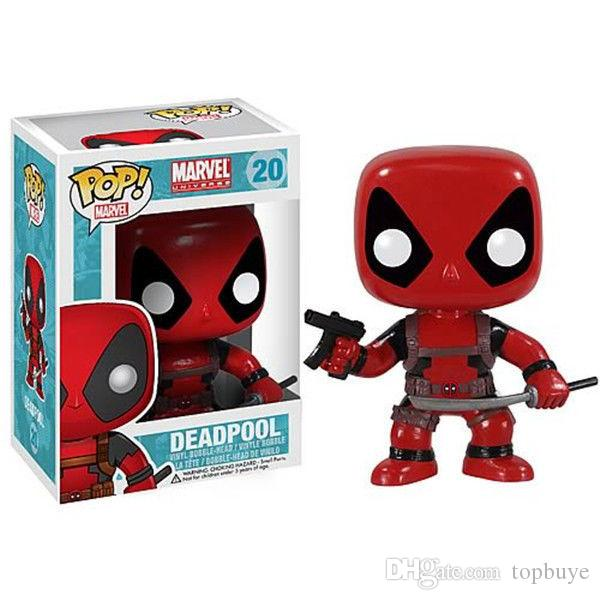 Funko Pop Deadpool Bobble Head Vinyl Action Figure With Box #20 Gift Good Quality Free Shipping