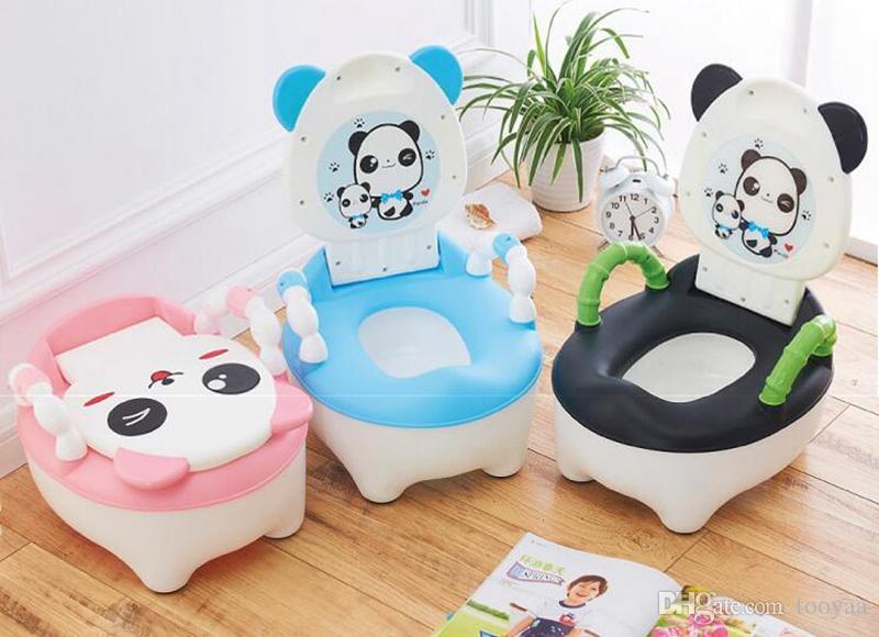 Boys and Girls Panda Portable Training Toilet Seat Pink